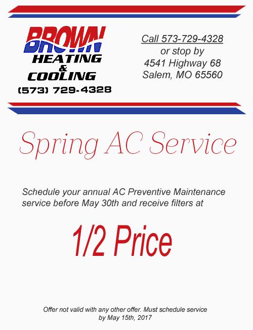 Spring AC Maintenance Special