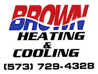 Brown Heating & Cooling Logo